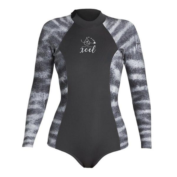 Xcel Ocean Ramsey Water Inspired Tiger Shark Print Wetsuit Springsuit Bikini Cut